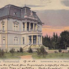 SIBIU, SALUTARI DIN SIBIU, RESEDINTA DE VARA GR. OR. METROPOLITANA, CIRC.1904 - Carte Postala Transilvania pana la 1904, Circulata, Printata