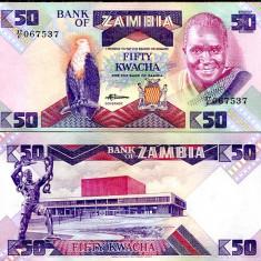 ZAMBIA- 50 KWACHA ND 1986-1980- UNC!!