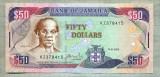 A 601 BANCNOTA-JAMAICA -50 DOLLARS -ANUL 2005-SERIA 378415-starea care se vede