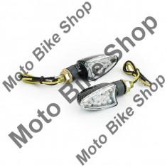 Set lampi semnalizare cu leduri-carbon-romb PP Cod Produs: MBS031109 - Semnalizatoare Moto