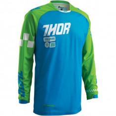 MXE Tricou motocross copii Thor Phase Ramble, albastru/verde Cod Produs: 29121312PE - Imbracaminte moto