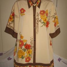 Camasa Unicat cu flori Mar 44/ 46 - Camasa dama, Culoare: Multicolor, Maneca scurta, Universala, Vascoza
