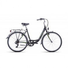Bicicleta CTM Olivia 2.0, negru/verde, cadru 18
