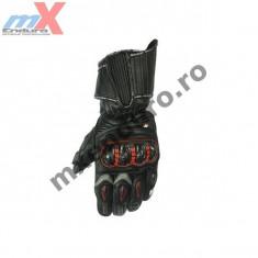 MXE Manusi moto piele Motulux Racing culoare negru/rosu Cod Produs: ML7301