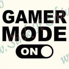 Gamer Mode_Stickere Laptop - Tableta_Cod: DIV-170_Dim: 15 cm. x 11.2 cm.
