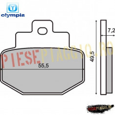 Placute frana spate Piaggio Hexagon GTX 125/180/250 PP Cod Produs: 1497002OL - Piese electronice Moto