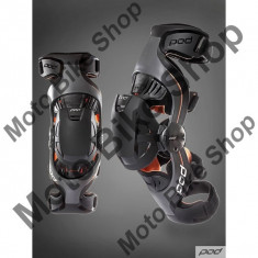 MBS Orteze genunchi POD K1, gri/portocaliu, YL = 29.5-32 cm, Cod Produs: K1013230YLAU - Protectii moto