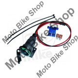 MBS Priza bricheta cu set montaj, 5Ah, lungime cablu 1, 2m, Cod Produs: 7061377MA - Instalatie Moto