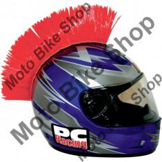 MBS Creasta casca Mohawk PC Racing, rosie, Cod Produs: 01360012PE