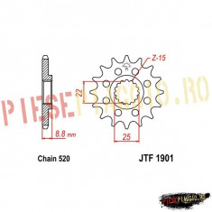Pinion fata Z14 520 KTM EGS/EXC/SX/XC PP Cod Produs: 7260821MA