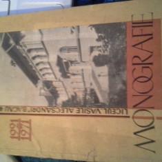 MONOGRAFIE LICEUL V ALECSANDRI BACAU 1921-1971 DE M COSMESCU,F CAPITANU