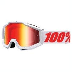 MXE Ochelari cross/enduro 100% Skylar White lentila colorata Cod Produs: 26011850PE - Ochelari moto