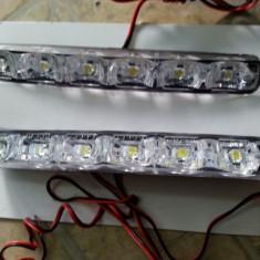 Lumini de zi DRL 6led smd lupa alb xenon 6000k