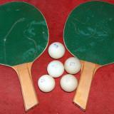 2 palete ping pong + 5 mingi - Paleta ping pong