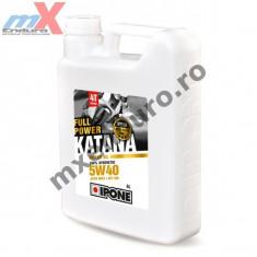 MXE Ulei moto 4T Ipone Full Power Katana 5W40 100% Sintetic ESTER - JASO MA2 - API SM, 4L Cod Produs: 800363IP - Ulei motor Moto