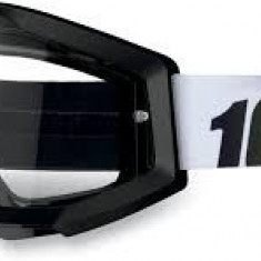 MXE Ochelari cross/enduro 100% Black-Lime lentila clara Cod Produs: 26011515PE - Ochelari moto