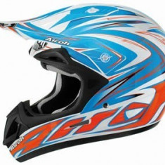 MXE Casca cross Airoh Jumper Paff, albastra/ rosie Cod Produs: JPF38 - Casca moto