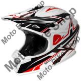 MBS Casca motocross Ufo Spectra Boost, alb/negru/rosu, XL, Cod Produs: HE106XL