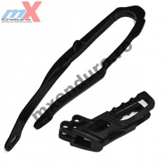 MXE Kit patina + ghidaj lant (HO03691+HO03671) Honda CR 05-06, negre Cod Produs: HO04632001 - Kit lant transmisie Moto