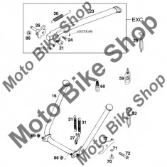 MBS Prindere cric L=145mm KTM 125 EXC 1999 #32, Cod Produs: 50303018000KT - Cabluri Moto