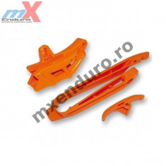 MXE Kit patina+ghidaj bascula lant portocalie KTM SX Cod Produs: KT04005127 - Kit lant transmisie Moto