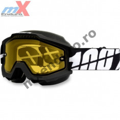 MXE Ochelari cross/enduro 100% Snow Black lentila clara Cod Produs: 26011886PE - Ochelari moto