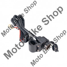 MBS Priza bricheta 12V/10A, cablu 170cm, Cod Produs: 10032955LO - Instalatie Moto