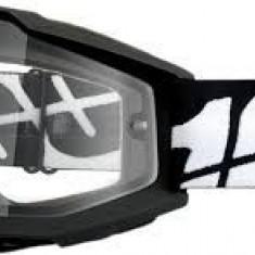 MXE Ochelari cross/enduro 100% Black Tornado Enduro OTG lentila clara Cod Produs: 26011872PE - Ochelari moto