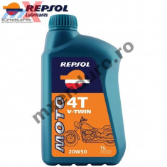 MXE Ulei Repsol Moto V-Twin 4T 20W50 1L Cod Produs: 004346 - Ulei motor Moto