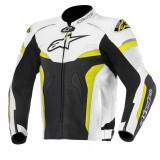 MXE Geaca moto piele Alpinestars, Gp Pro, negru/galben fluo Cod Produs: 310501612550AU