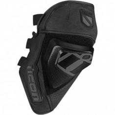 MXE Protectii genunchi Icon Cloverleaf, negre Cod Produs: 27040331PE - Protectii moto