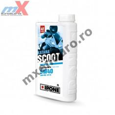 MXE Ulei scuter 4T Ipone Katana Scoot 5W40 100% Sintetic - JASO MB -API SL, 2L Cod Produs: 800382IP - Ulei motor Moto