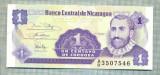 A 652 BANCNOTA-NICARAGUA -1 CENTAVO-ANUL(1991)-SERIA3507546-starea care se vede
