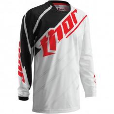MXE Tricou motocross copii Thor Phase Vented Doppler, alb/negru Cod Produs: 29121336PE - Imbracaminte moto