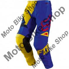 MBS Pantaloni motocross Fox 180 Vandal, galben/albastru, 30, Cod Produs: 1078558630AU - Imbracaminte moto