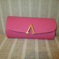 Plic geanta dama roz+CADOU, Geanta plic, Din imagine, Asemanator piele