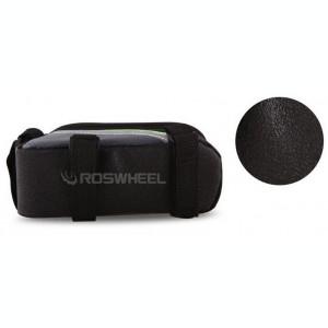 Borseta bicicleta Roswheel cu husa telefon impermeabila, iesire casti, L / VERDE