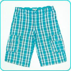 DE FIRMA _ Pantaloni scurti din bumbac, talie reglabila, H&M _ 11 - 12 ani | 152, Marime: Alta, Culoare: Turcoaz, Baieti