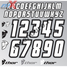 MXE Set abtibilde Thor Jersey Id Cod Produs: 43021275PE - Stikere Moto