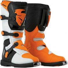 MXE Cizme motocross Thor Blitz, alb/portocaliu Cod Produs: 34101451PE