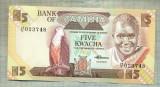 A 689 BANCNOTA-ZAMBIA - 5 KWACHA -ANUL1980-88 -SERIA 023748 -starea care se vede