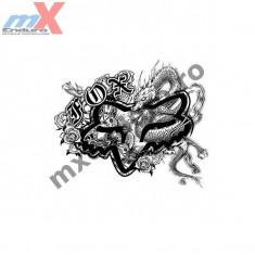 MXE Abtibild Fox culoare neagra 15 cm Cod Produs: 14330001000AU - Stikere Moto