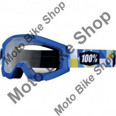 MBS Ochelari cross/enduro Strata Frisbee Clear, 100.00%, albastru, sticla incolora, Cod Produs: 26011521PE - Ochelari moto