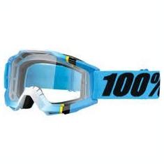 MXE Ochelari cross/enduro 100% Blue Crystal lentila clara Cod Produs: 26011862PE - Ochelari moto