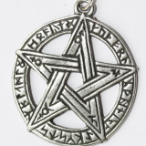 Pandantiv celtic Pentagramă cu rune - Pandantiv fashion