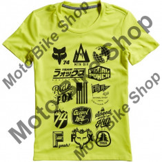 MBS Fox Girl T-Shirt Division Tech, Flo Yellow, Dl, P:16/145, Cod Produs: 15736130LAU