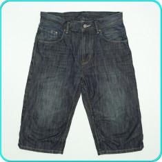 DE FIRMA _ Pantaloni scurti tip blugi, calitate H&M _ baieti | 11 - 12 ani | 152, Marime: Alta