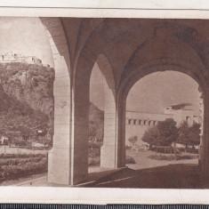 Bnk cp Deva - Vedere spre parcul comunal si cetate - necirculata, Printata