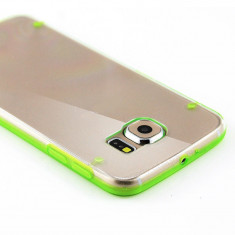 Husa silicon CLEAR margine bumper color Samsung Galaxy S7 Edge