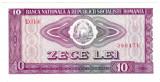 3. Bancnota 10 lei 1966 perfect UNC